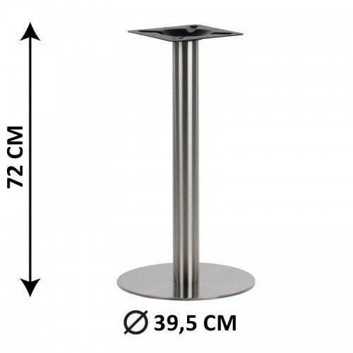 Podstawa stolika SH-3001-1/S, fi 39,5 cm, stal nierdzewna szczotkowana (stelaż stolika), SH3001-1/40/72/S