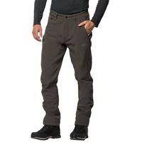 Softshelowe spodnie męskie zenon softshell pants men dark moss - 48, Jack wolfskin