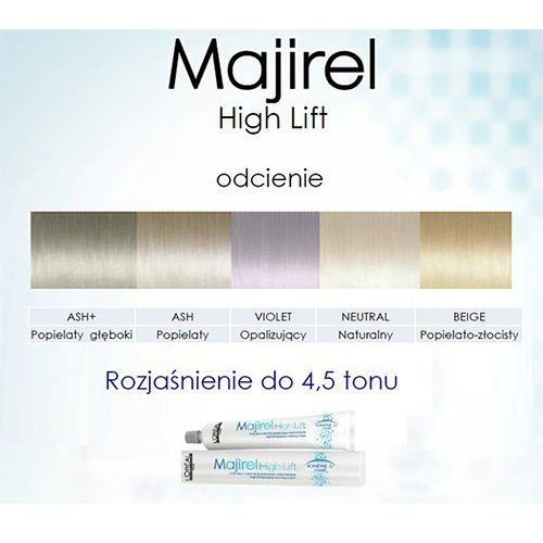 L'Oreal Profesionnel Majirel High Lift Neutral farba koloryzacja do włosów blond Naturalny 50ml, kolor blond