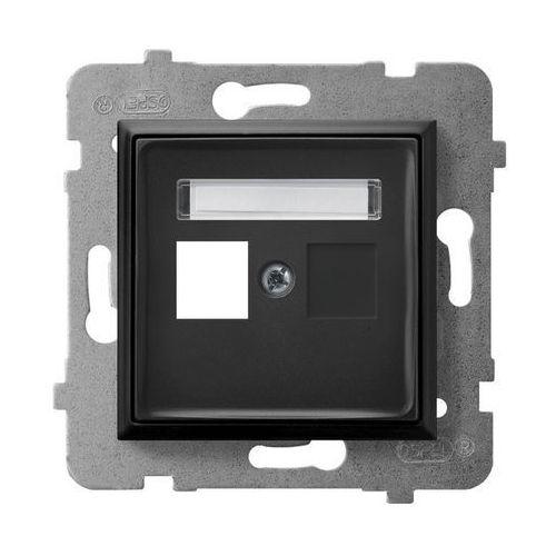 Obudowa gniazda pojedynczego typu keystone prosta gpk-1u/p/33 czarny metalik aria marki Ospel
