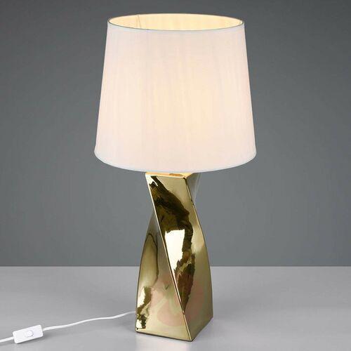Trio rl abeba r50773479 lampka stołowa lampa 1x60w e27 złoty / biały