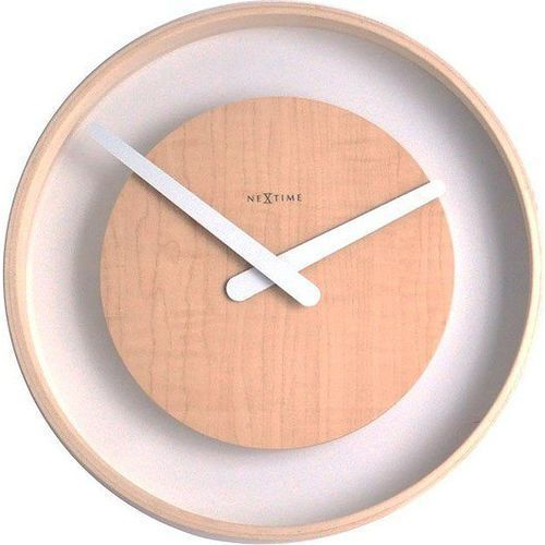 Nextime Zegar ścienny wood loop jasny (3046) (8717713006206)