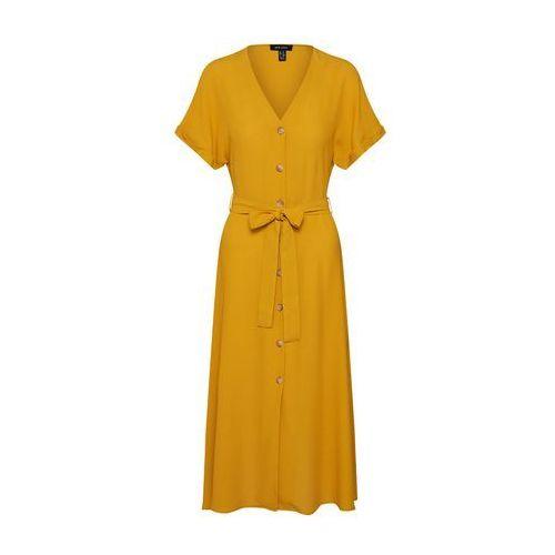 letnia sukienka 't f plain btn thru midi' żółty, New look, 34-42