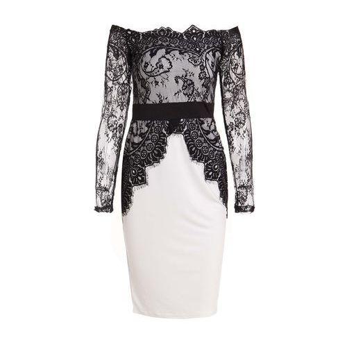 Slash Collar Long Sleeve See-Through Spliced Dress