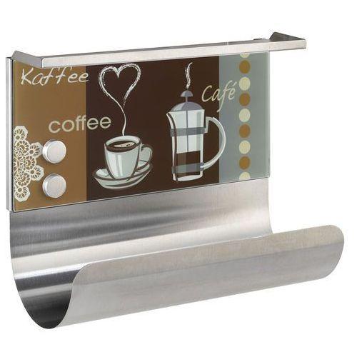 Wenko Uchwyt na rolkę kuchenną coffee flavour, tablica, półka, 3w1, (4008838445488)