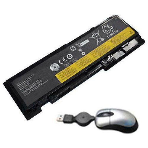 amsahr lent420s-05 bateria zapasowa do IBM/Lenovo ThinkPad T420s, 0 A36287, 42t4844, 42T4845 – zawierają Mini myszka optyczna Czarny