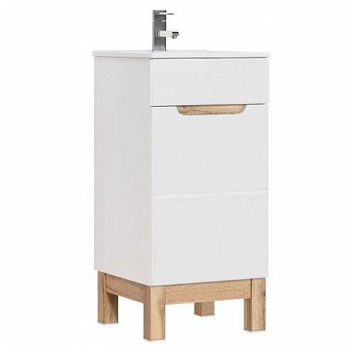 Producent: elior Szafka pod umywalkę marsylia 3x 40 cm- biały połysk