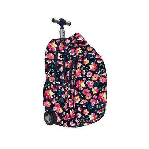 Plecak na kółkach  st. reet flowers claret + darmowy transport! marki St-majewski