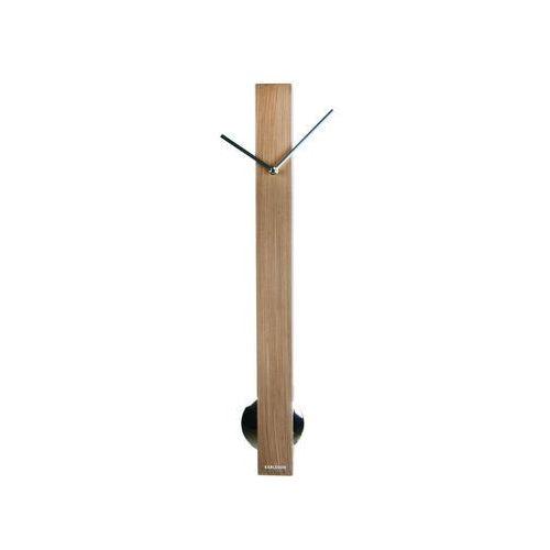 :: zegar ścienny pendulum tube - jasny brąz, srebrne elementy marki Karlsson