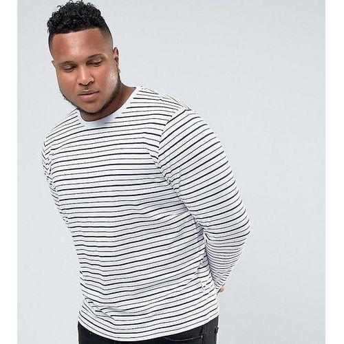 plus long sleeve t-shirt in stripe - white marki Bellfield