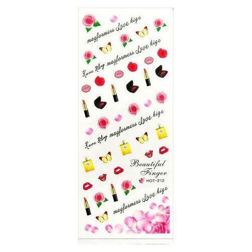 Naklejki usta szminka kiss na paznokcie zestaw hot-212 wyprodukowany przez Beauty tools