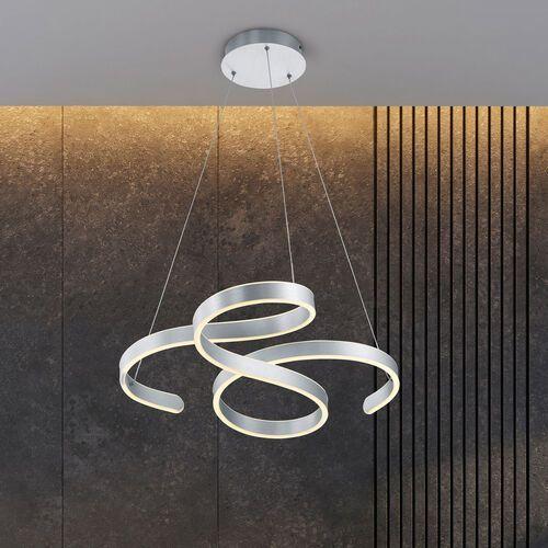 Trio francis 371310105 lampa wisząca zwis 1x52w led 3000k szczotkowane aluminium
