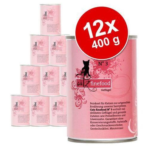 Korzystny pakiet catz finefood, 12 x 400 g - Dziczyzna, KFIN023_PAK12