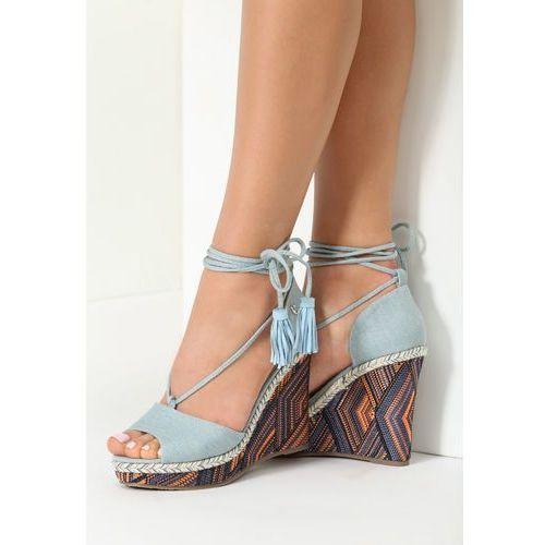 Jasnoniebieskie Sandały Monday Mood, kolor niebieski