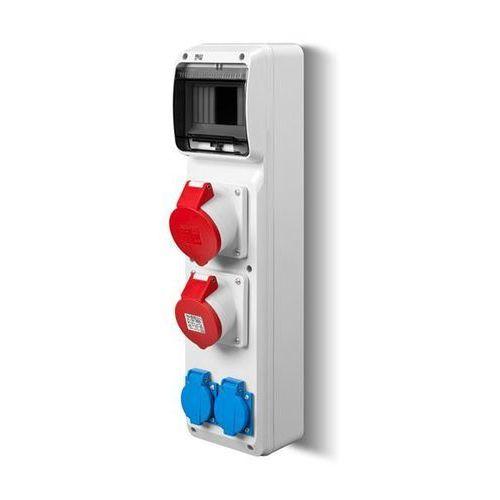 Rozdzielnica siłowa RS natynkowa 6-modułowa 2x230V 1x16A/5P 1x32A/5P 6240-00 Elektro-Plast (5901752639812)