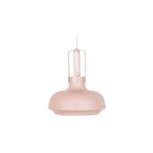 Beliani Lampa wisząca metalowa różowa taravo (4260602373537)