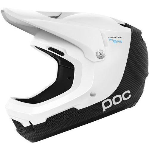 coron air carbon spin kask rowerowy biały m-l | 55-58 2018 kaski rowerowe marki Poc