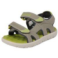 Timberland perkins row 2-strap sandały dzieci zielony/brązowy 23 2018 sandały codzienne (0191478509468)