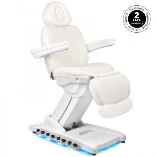 Fotel kosmetyczny elektr. azzurro 872 exclusive 4 siln. biały podgrzewany marki Activeshop