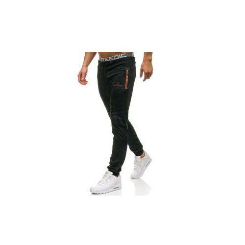 Red fireball Spodnie męskie dresowe joggery czarne denley w1336