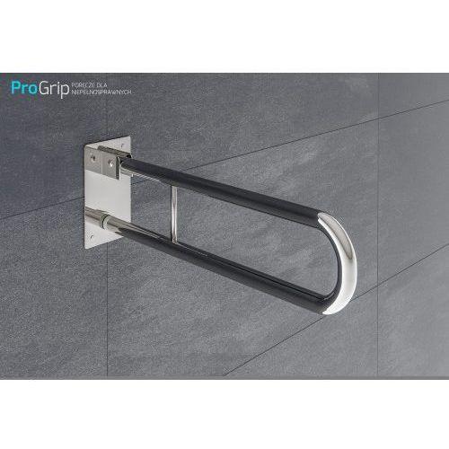 Poręcz ścienna uchylna stal nierdzewna połysk Ø 25 mm, długość 700 mm