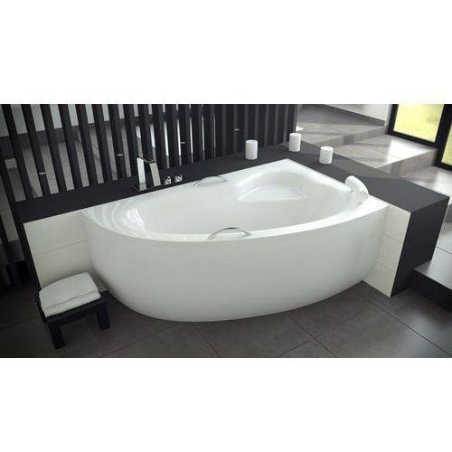 natalia wanna narożna 150x100 cm asymetryczna lewa biała #wan-150-nl + syfon marki Besco