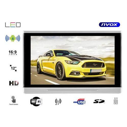 """Monitor samochodowy zagłówkowy LED 12"""" HD z systemem ANDROID oraz USB SD FM WiFi 12V"""