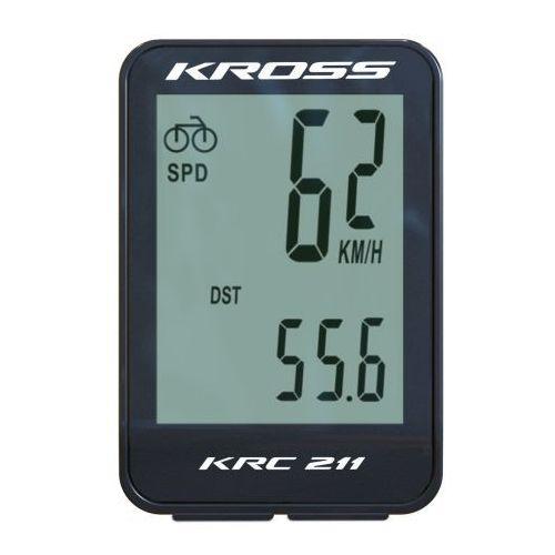 Przewodowy licznik rowerowy krc 211 11 funkcji t4cli000154bk czarny marki Kross