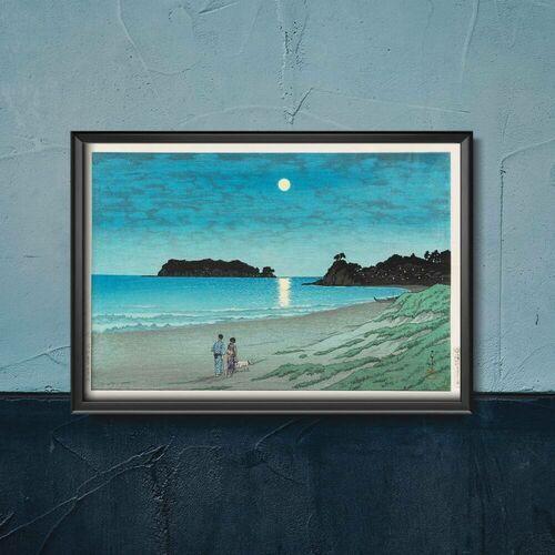 Vintageposteria.pl Plakat w stylu retro plakat w stylu retro plaża w soshu autorstwa kawase hasui