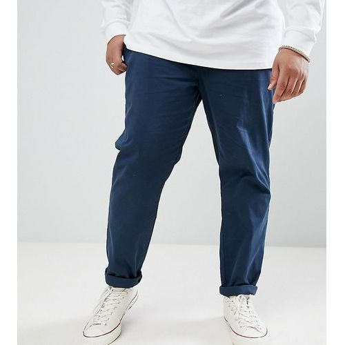 D-Struct PLUS Elastic Waist Cropped Chino Trousers - Navy
