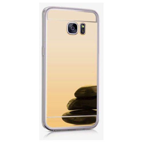 Slim mirror case złoty | etui dla samsung galaxy s7 edge