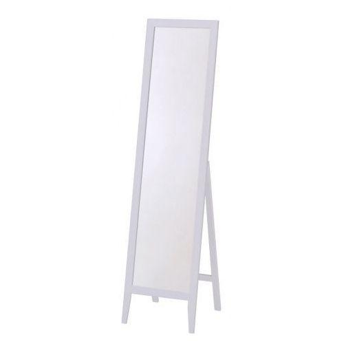 Drewniane lustro stojące Regis - białe, V-CH-LS1-LUSTRO