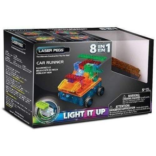 Klocki laser pegs 8 w 1 Car runner