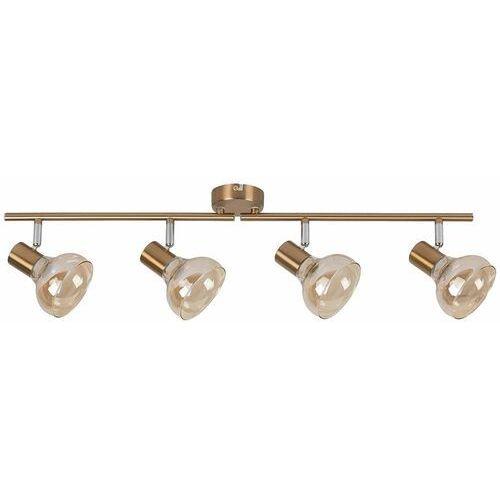 Plafon lampa sufitowa holly 5550 loft oprawa szklane reflektorki regulacja antyczne złoto bursztynowe marki Rabalux
