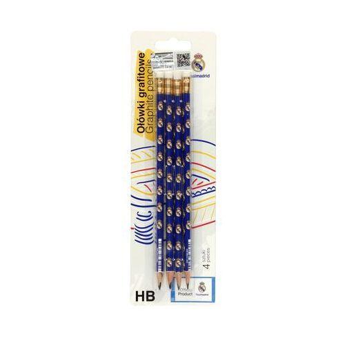 Zenith Ołówek techniczny hb z/g real madryt - 4 szt. w opak.