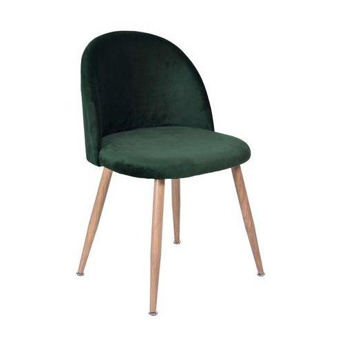 Krzesło jazz ciemnozielone - aksamit marki Ehokery.pl