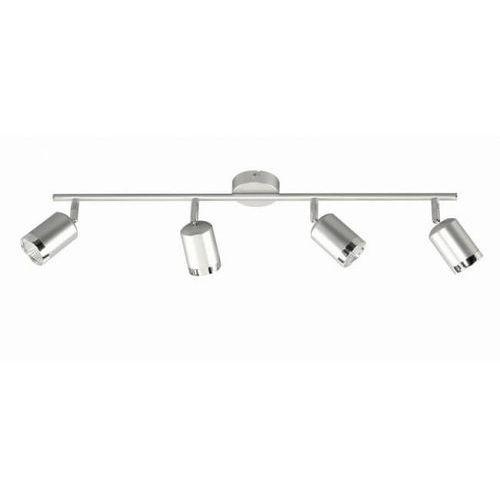 Wofi PORT lampy sufitowe listwy LED Aluminium, 4-punktowe - - Obszar wewnętrzny - PORT - Czas dostawy: od 6-10 dni roboczych, kolor Silber