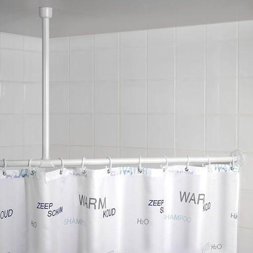 Wenko Uchwyt do zawieszenia drążka od zasłony prysznicowej, Ø 2,5 cm, 57 cm, chrom, (4008838192122)