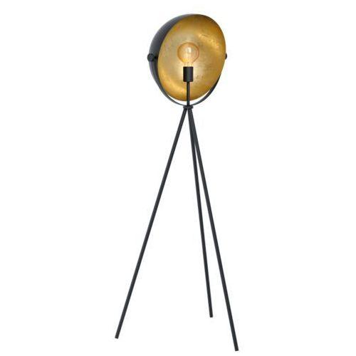 Eglo Darnius 98458 lampa podłogowa oprawa stojaca 1x40W E27 czarna/złota