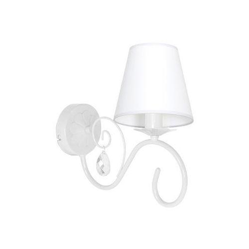 Kinkiet LAMPA ścienna SARA MLP1047 Milagro abażurowa OPRAWA do pokoju dziecięcego crystal biała, MLP1047