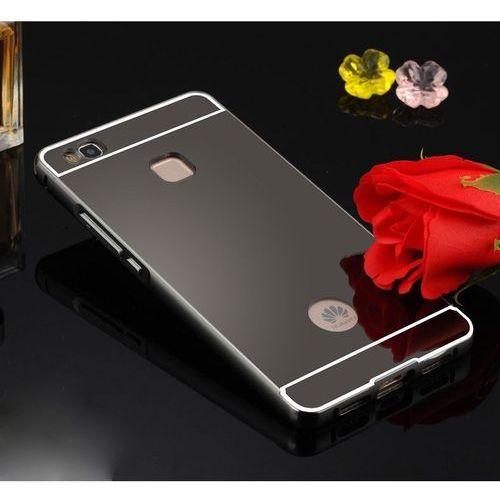 Mirror bumper  metal case czarny   etui dla huawei p9 lite - czarny