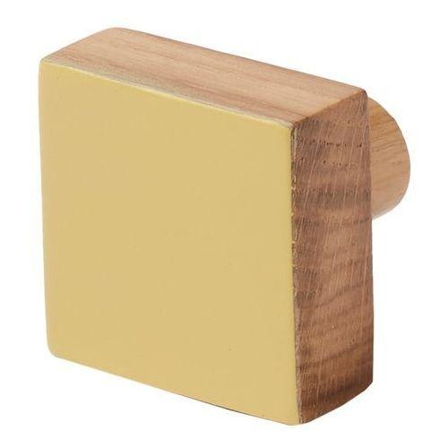 Wieszaczek drewniany Cooke&Lewis Nantua żółty