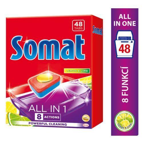 Somat all in 1 lemon & lime tabletki do mycia naczyń w zmywarkach 864 g (48 sztuk) (9000101347890)
