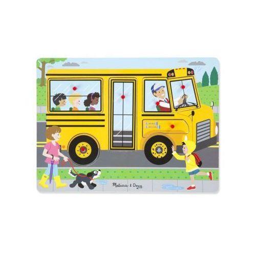 Melissa & doug puzzle dźwiękowe. autobus szkolny