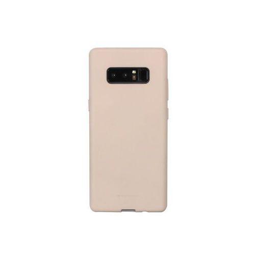 Samsung Galaxy Note 8 - etui na telefon Mercury Goospery Soft Feeling - piaskowy róż, ETSM589GMSFPIA000