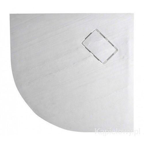 Atika brodzik kompozytowy półokrągły, dekor kamień, biały r55 90x90 cm ak001 marki Sapho