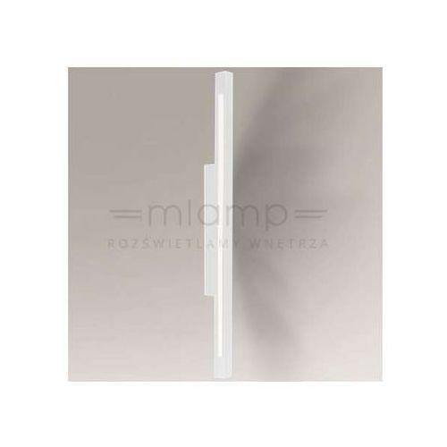 Kinkiet LAMPA ścienna OTARU 8045/LED/BI Shilo łazienkowa OPRAWA metalowa LED 22W 3000K listwa IP54 belka biała