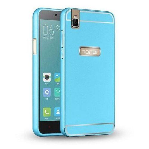 Mat bumper Bumper metal case niebieski | etui dla huawei honor 7i / shot x - niebieski