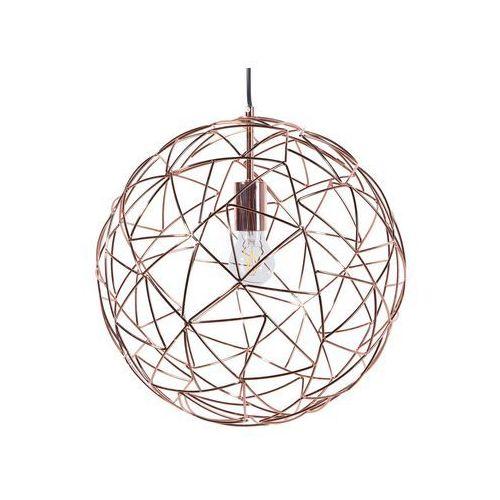 Lampa wisząca metalowa miedziana lemme marki Beliani