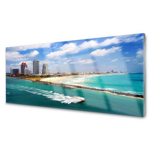 Obraz Akrylowy Morze Plaża Miasto Krajobraz